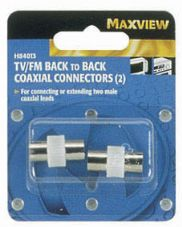 TV / FM Back to Back coaxial Connectors
